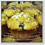 Muffins ai mirtilli e fiocchi d'avena
