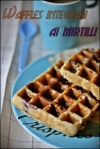Waffles integrali ai mirtilli