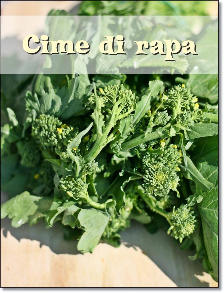 Orecchiette con le cime di rapa – Orecchiette with broccoli rabe ...