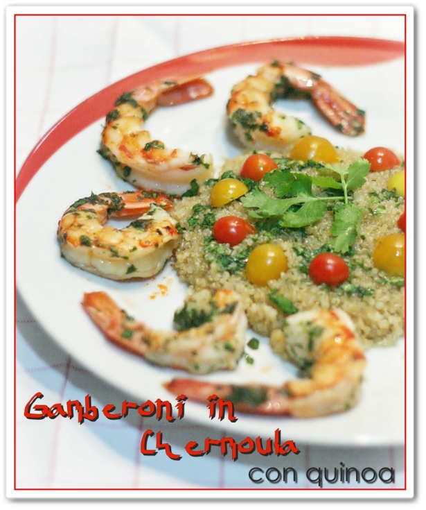 Gamberoni in Chermoula con Quinoa 2