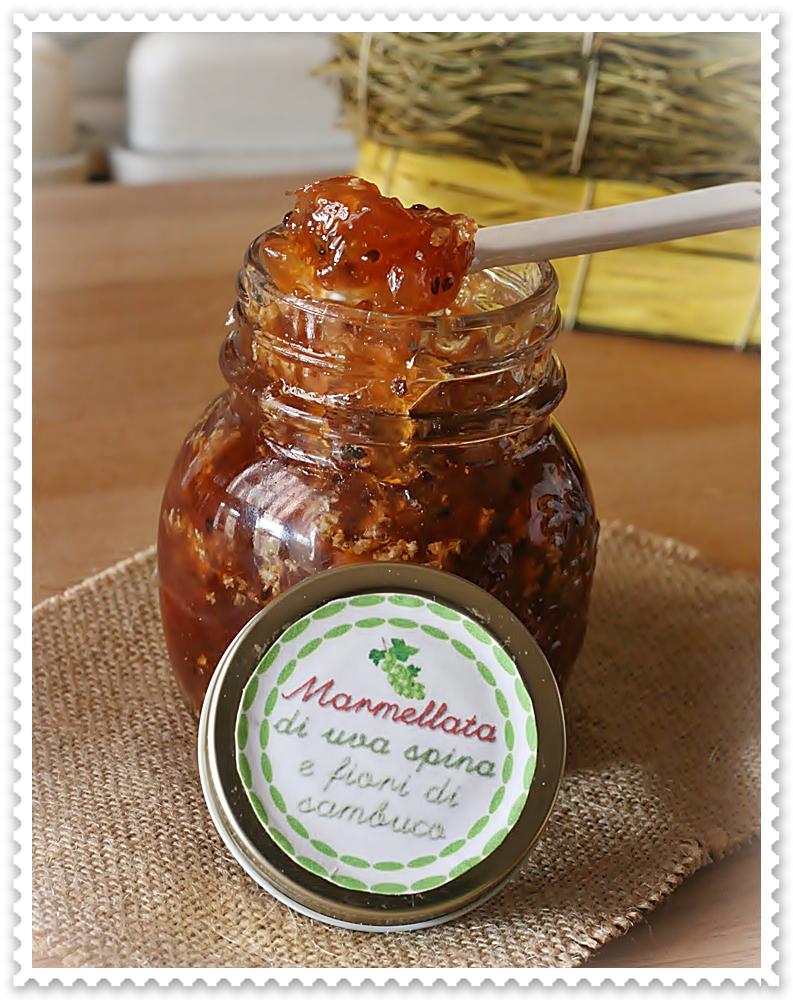 Conosciuto Marmellata di uva spina e fiori di sambuco   Crumpets & co. ZG44