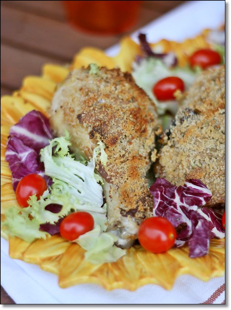 ... crosta di senape e finocchio – Chicken with mustard and fennel crust