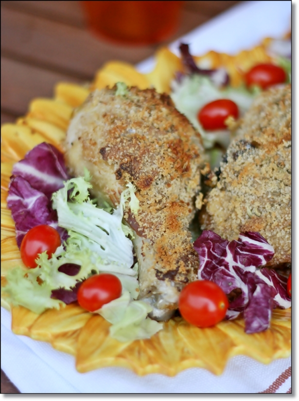 ... crosta di senape e finocchio – Chicken with mustard and fennel crust