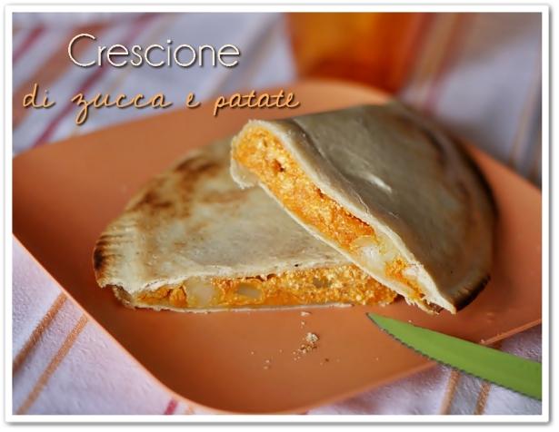 Crescione di zucca e patate crescione with pumpkin and - Crescione ricette cucina ...