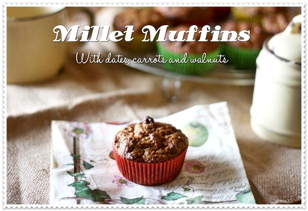 Muffins al miglio con datteri, carote e noci 3