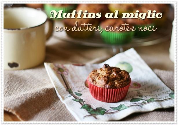 Muffins al miglio con datteri, carote e noci 5