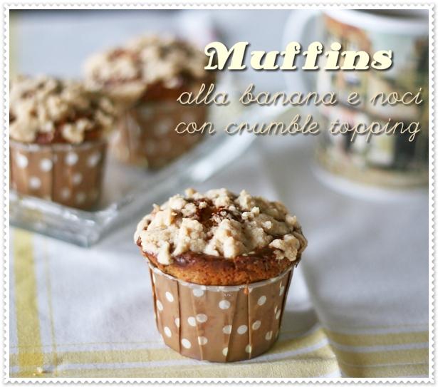 Muffins alla banana e noci