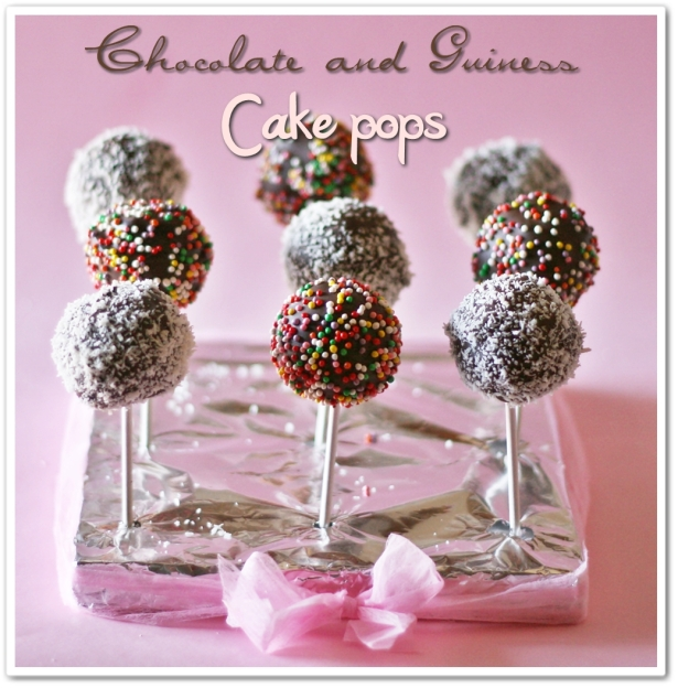 Choc and guiness cake pops