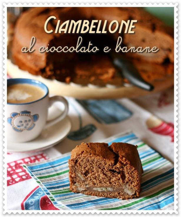 Ciambellone al cioccolato e banane 2