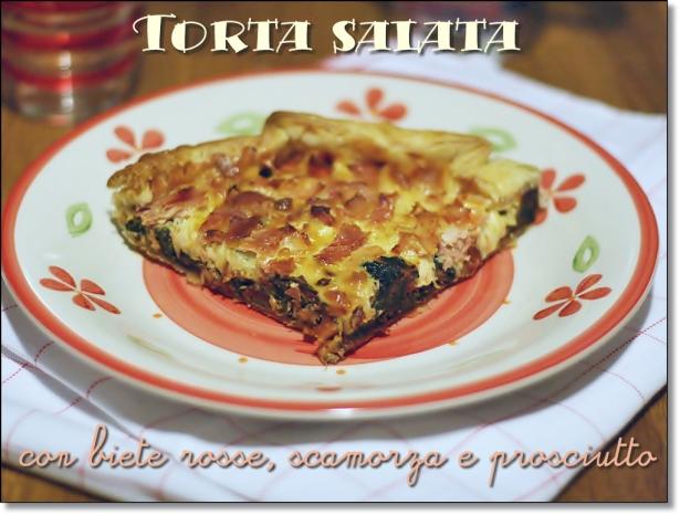 Torta salata con bieta rossa 2