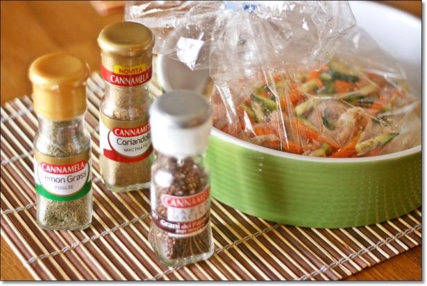 Riso basmati aromatico con gamberi e verdure (prima della cottura 2)