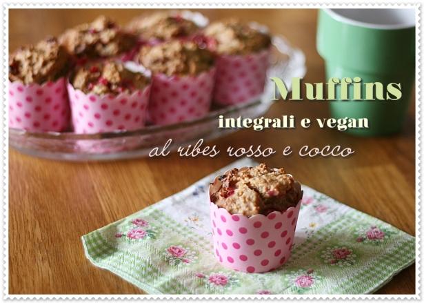 Muffins vegan ribes e cocco