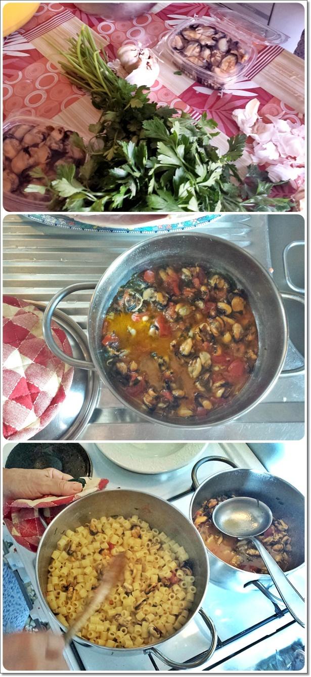 Tubetti con le cozze - preparazione 4-vert