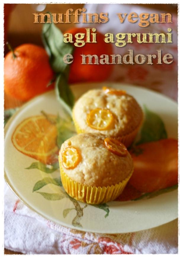 Muffins vagan agrumi e mandorle