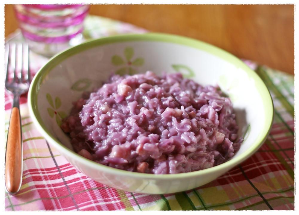 Risotto Di Cavolo Rosso E Pancetta Red Cabbage And Pancetta