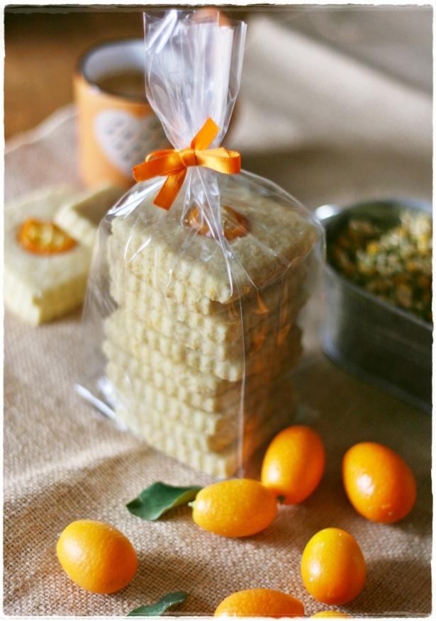 Shortbread kumquats camomilla