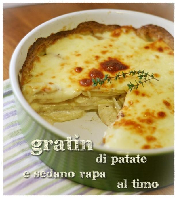 Gratin patate e sedano rapa