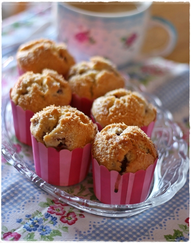 Muffins cocco-lampone 3