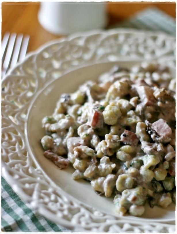 Spatzle aglio orsino3