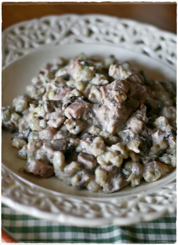 Spatzle aglio orsino5