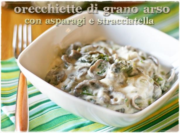 Orecchiette grano arso asparagi5