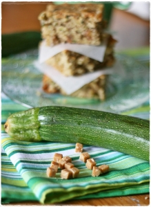 Zucchini toffee blondies