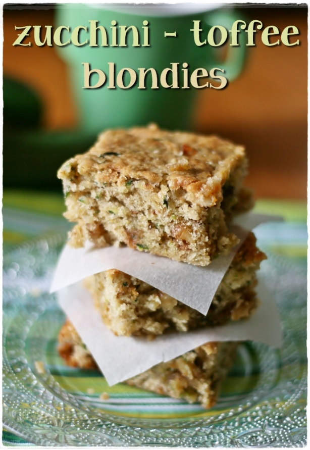 Zucchini toffee blondies2