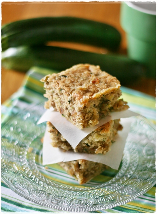 Zucchini toffee blondies3