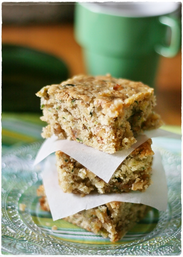 Zucchini toffee blondies4