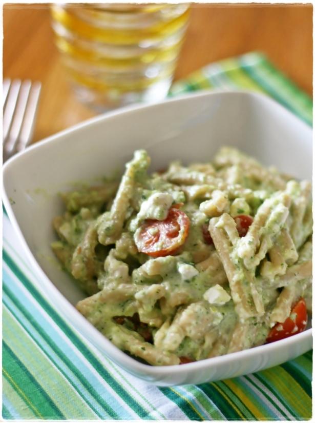 Casarecce integrali con crema di zucchine e feta3