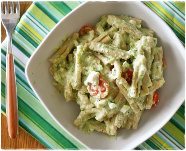 Casarecce integrali con crema di zucchine e feta4