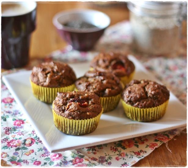 Muffins lino prugne semi di chia4