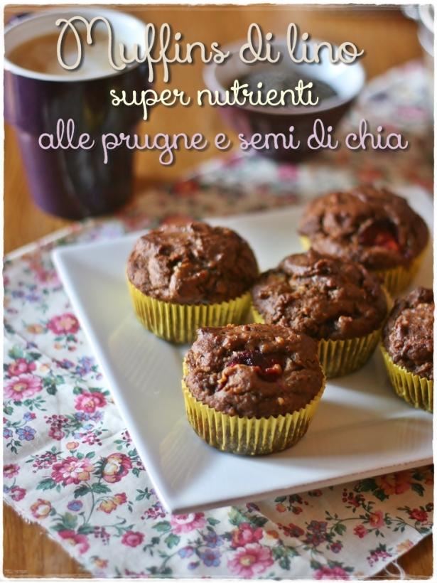 Muffins lino prugne semi di chia5