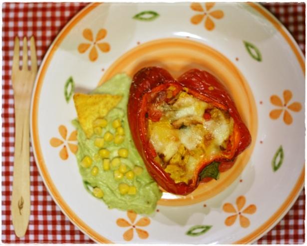 Peperoni ripieni pollo e formaggio
