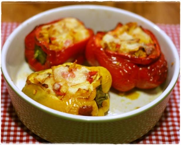 Peperoni ripieni pollo e formaggio6