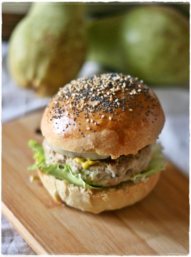 Burger di tacchino e pere grigliate6