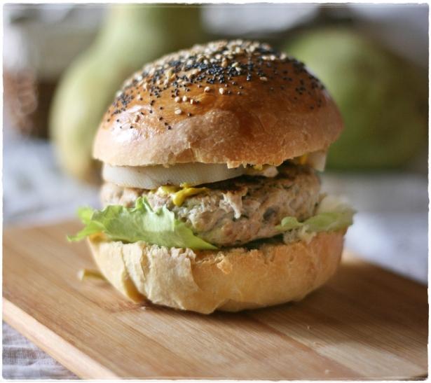 Burger di tacchino e pere grigliate7