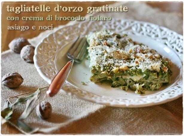 Tagliatelle d'orzo con broccolo fiolaro 5