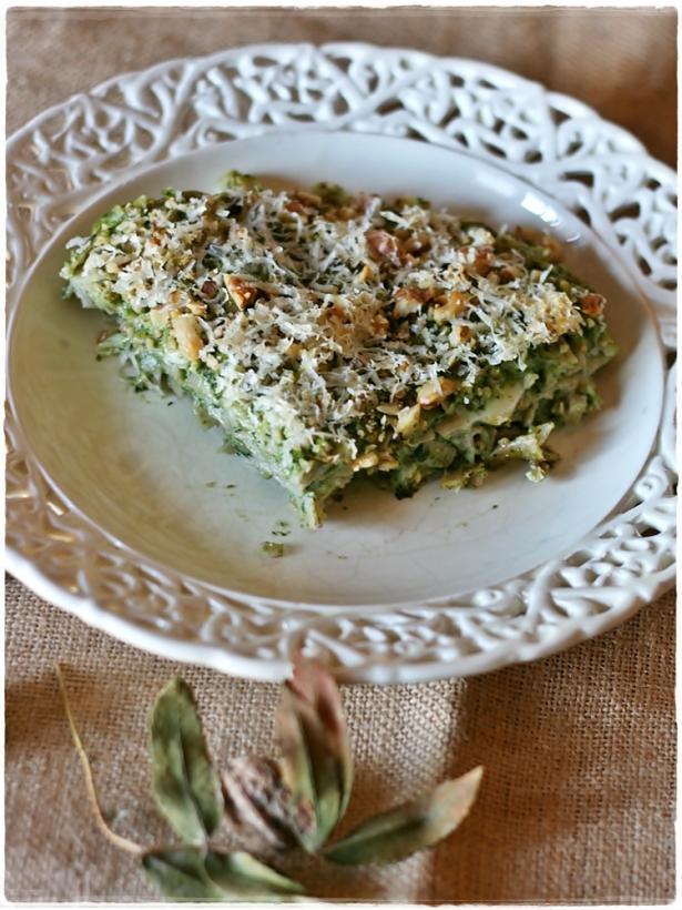 Tagliatello d'orzo gratinate con broccolo fiolaro