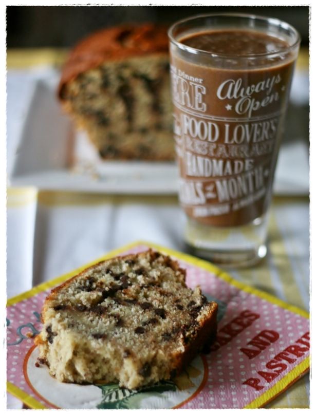 banana chocolate bread e frullato