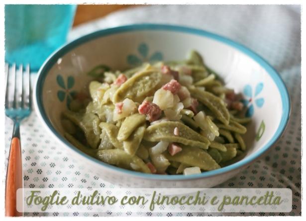 Foglie d'ulivo con finocchi e pancetta 4