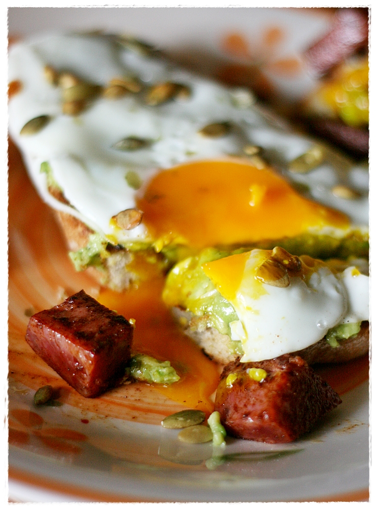 avocado avocado and chorizo toast recipes dishmaps avocado on toast ...