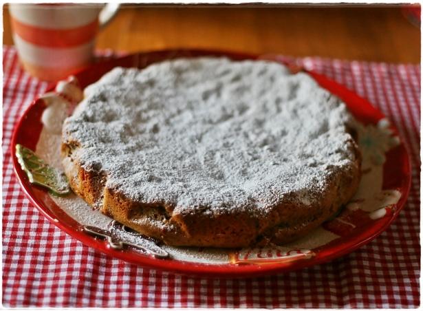 Torta miele e frutta secca4