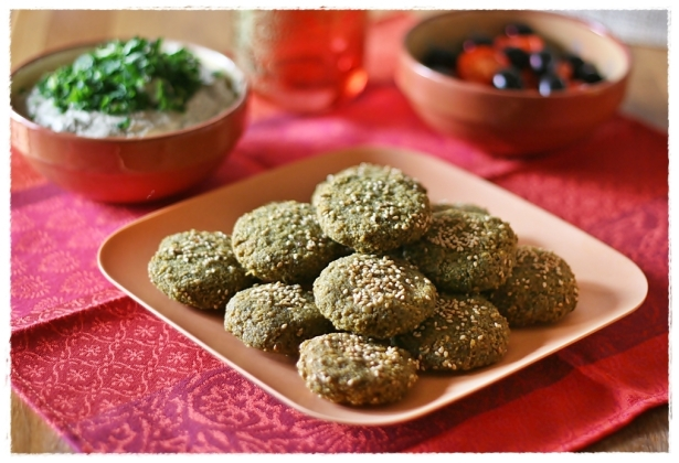 Falafel - Baba ghannouj