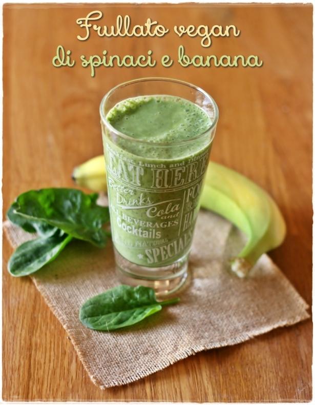 Frullato spinaci e banana4