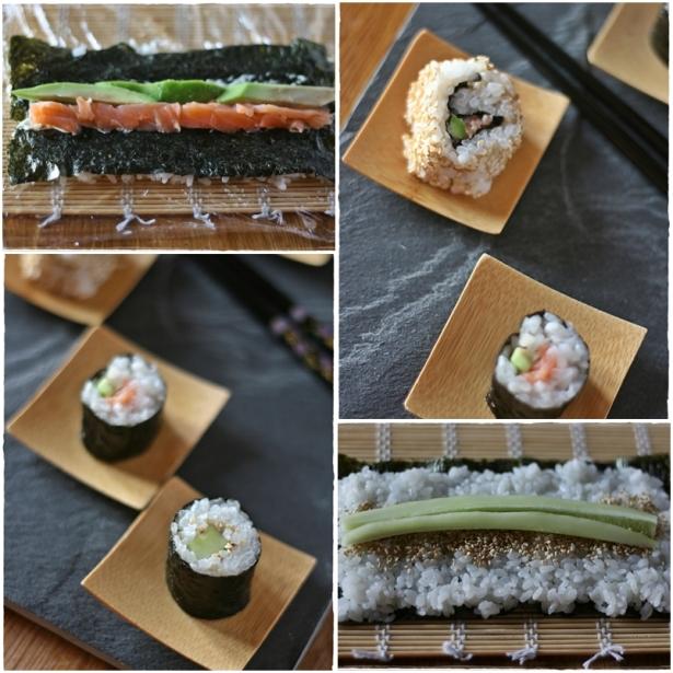 Sushi - misto collage