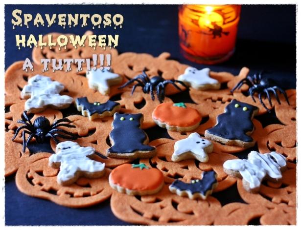 Biscotti Halloween (zucca, gatto nero, mumia, fantasma, pipistrello)