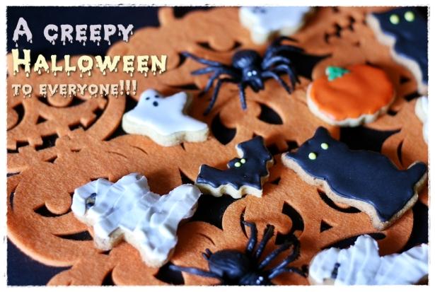 Biscotti Halloween (zucca, gatto nero, mumia, fantasma, pipistrello)2