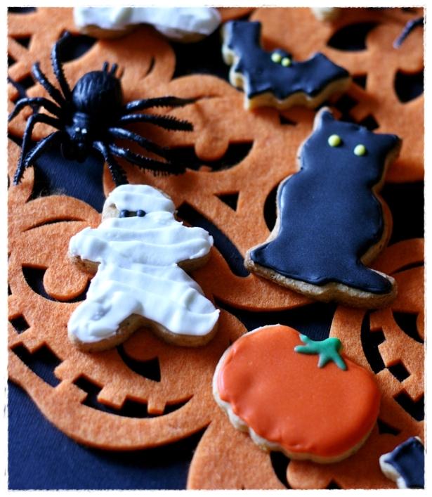 Biscotti Halloween (zucca, gatto nero, mumia, fantasma, pipistrello)3