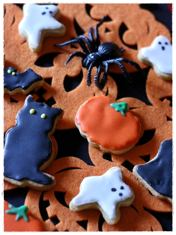 Biscotti Halloween (zucca, gatto nero, mumia, fantasma, pipistrello)4